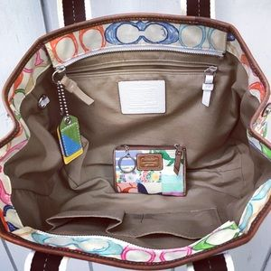 Coach Bags - Colorful Coach Hamptons Patchwork bag WITH wallet